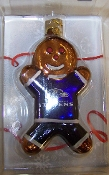 "Baltimore Ravens 3"" Gingerbread Man Ornament"