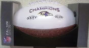 Baltimore Ravens Super Bowl Champs on the Fifty Football