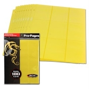 18 Pocket Side Loading Pages Yellow BCW Pack (10)