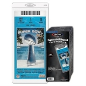 Semi-Rigid Event Ticket Holders BCW Brand Pack (50)