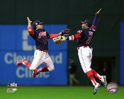 "Cleveland Indians 16' World Series Photo 8x10"" Lindor and Davis"