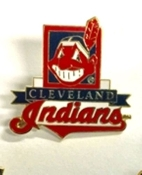 Cleveland Indians MLB Team Lapel Pin Chief Wahoo - version #2