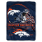 "Denver Broncos 60""x80"" Plush Raschel Throw Blanket"